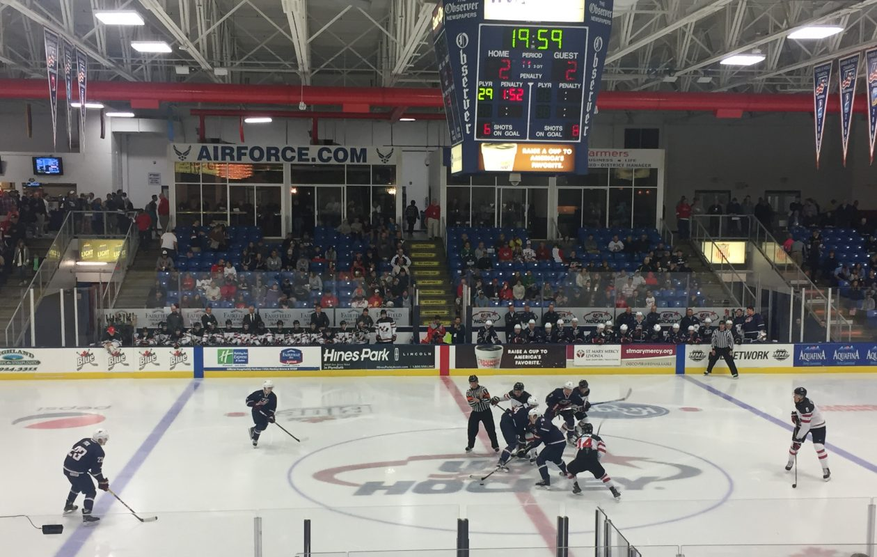 The U.S. and Canada played the last game of the World Junior Summer Showcase at USA Hockey Arena.