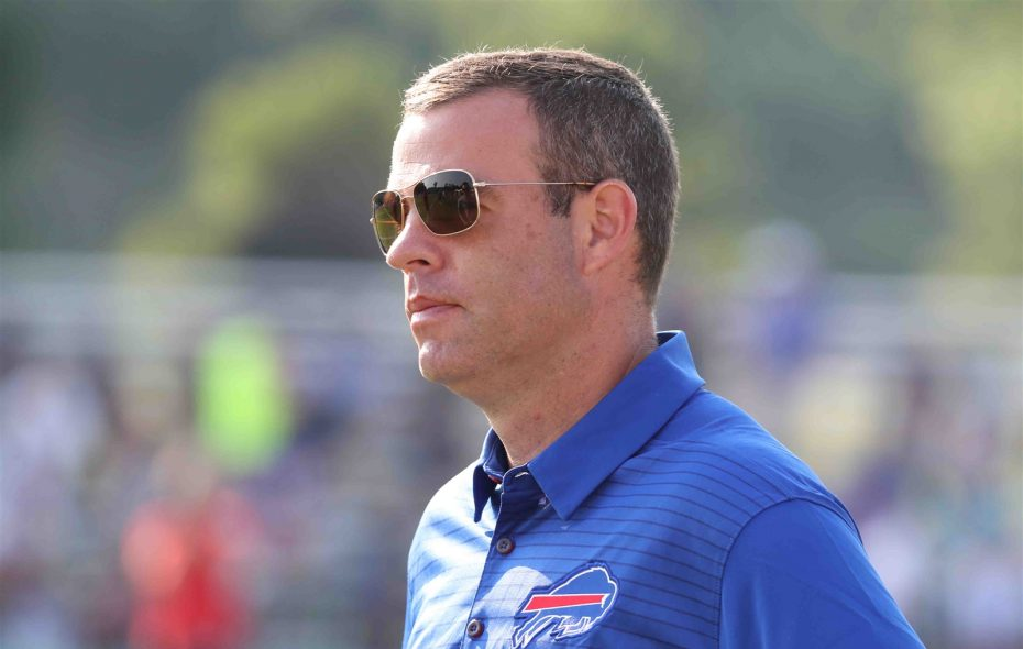 General Manager Brandon Beane will be busy this weekend as teams around the NFL make their final cuts, making more than 1,000 players free agents. (James P. McCoy/Buffalo News)