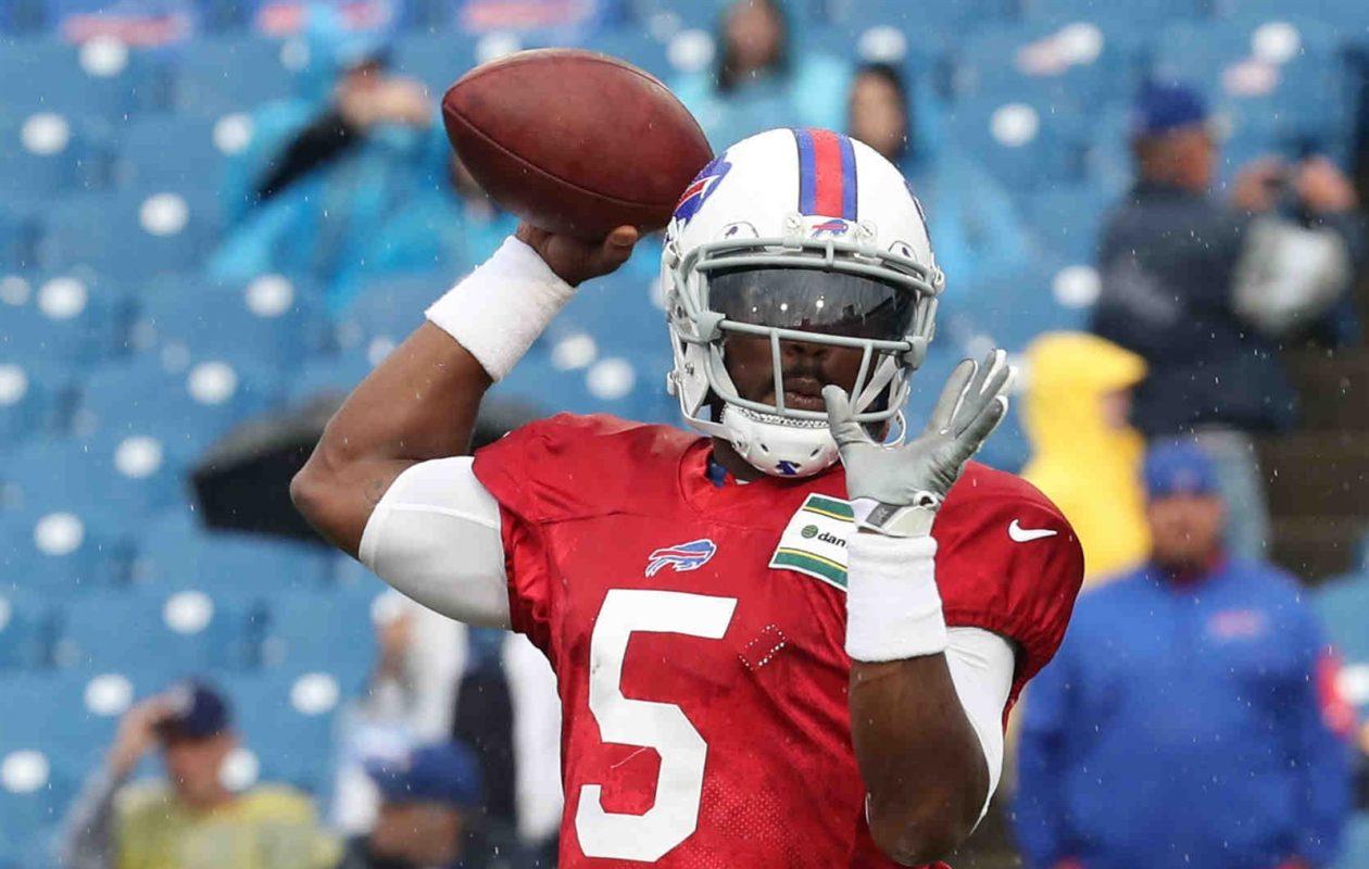 Quarterback Tyrod Taylor will remain the starter for the Buffalo Bills, coach Sean McDermott said Friday. (James P. McCoy/Buffalo News)