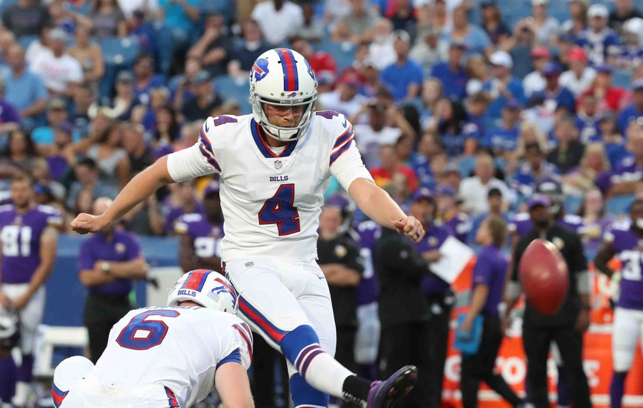 The Buffalo Bills settled their kicking competition Sunday, going with Stephen Hauschka and Colton Schmidt. (James P. McCoy/Buffalo News)