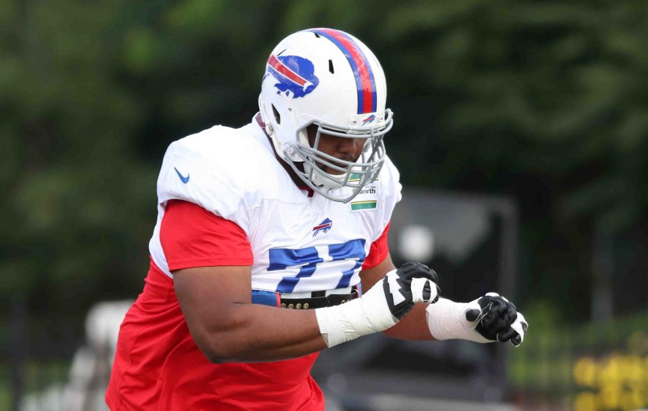 Left tackle Cordy Glenn practiced on a limited basis Wednesday. (James P. McCoy/Buffalo News)