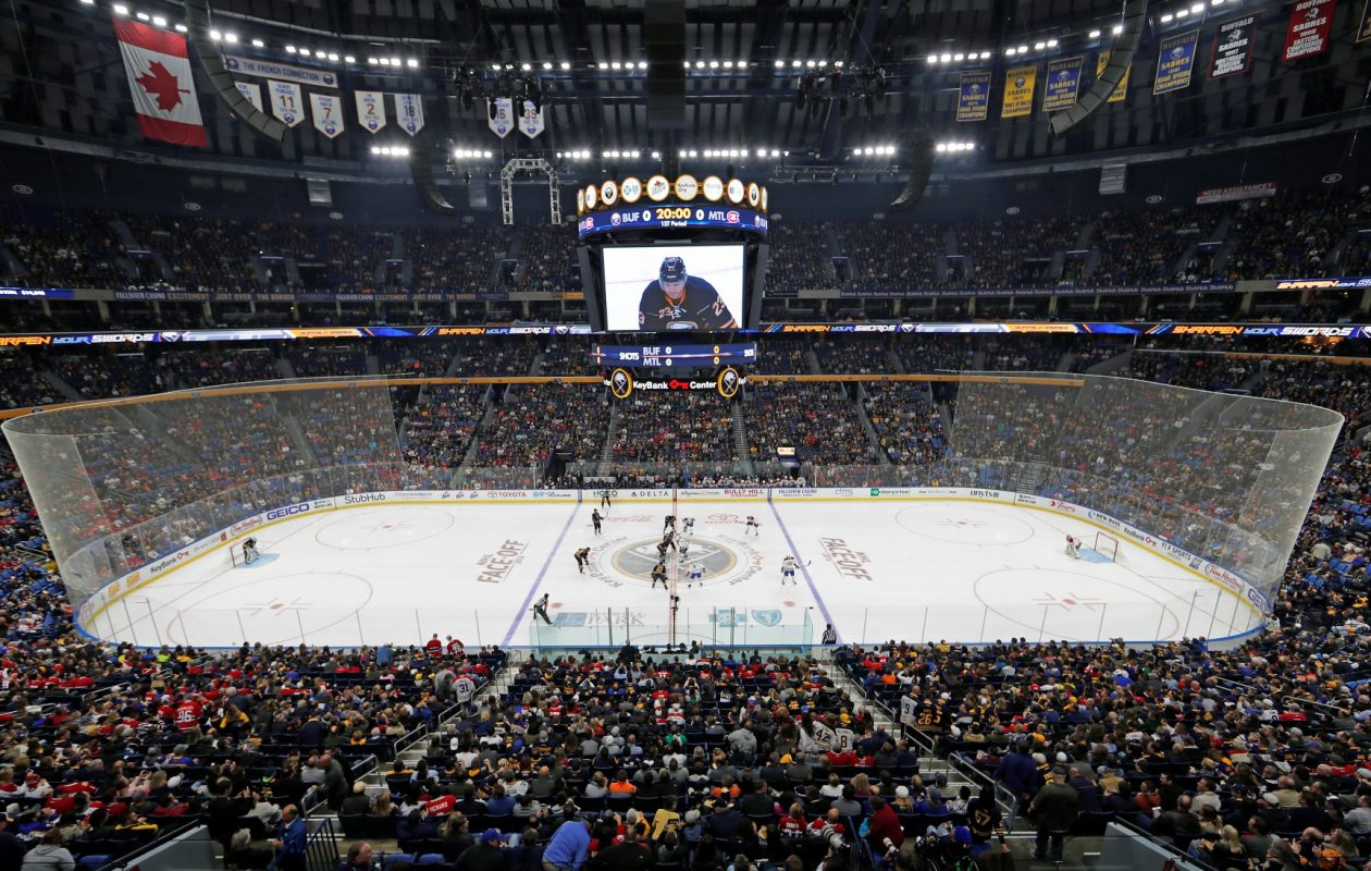 In-app ordering and concession pickup windows are among the changes coming to KeyBank Center for the 2017-18 Sabres season (Harry Scull Jr./Buffalo News file photo).