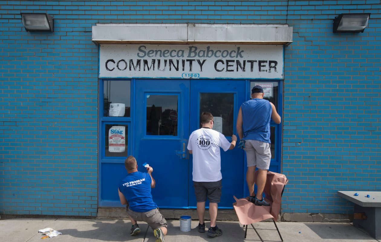 The current center at 1168 Seneca St. is considered too cramped and lacks space to expand. (John Hickey/Buffalo News)