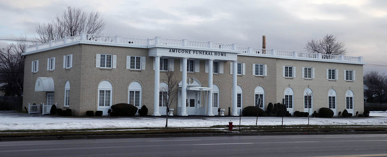 Amigone Funeral Home  on Sheridan Drive, where the crematory is, in the Town of Tonawanda. (John Hickey/News file photo)