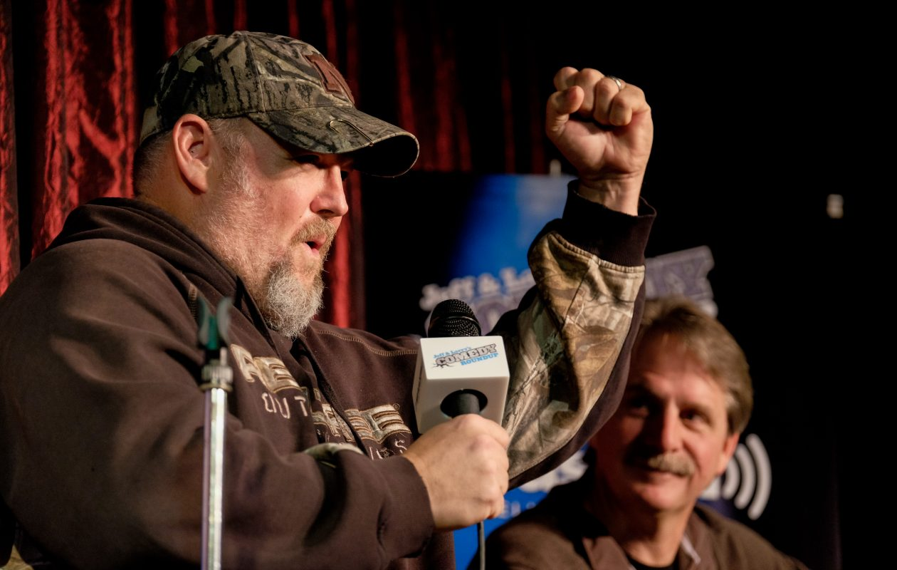 Larry the Cable Guy, left, and Jeff Foxworthy team up for a show at the Erie County Fair. (Getty Images)