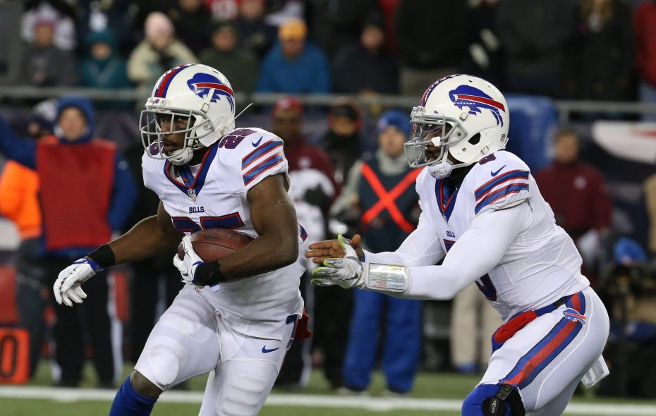 In your fantasy football draft, you might want to pass on LeSean McCoy (left) early and pick up Tyrod Taylor late.  (James P. McCoy/ Buffalo News)