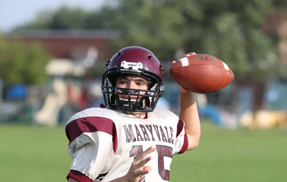 Connor Desiderio returns at quarterback for Maryvale. (James P. McCoy/Buffalo News)