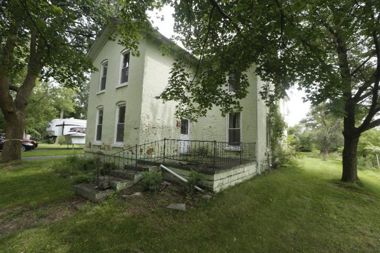 The former Lockport home of Aaron Mossell, a 19th century Lockport civil rights leader. (John Hickey/Buffalo News)
