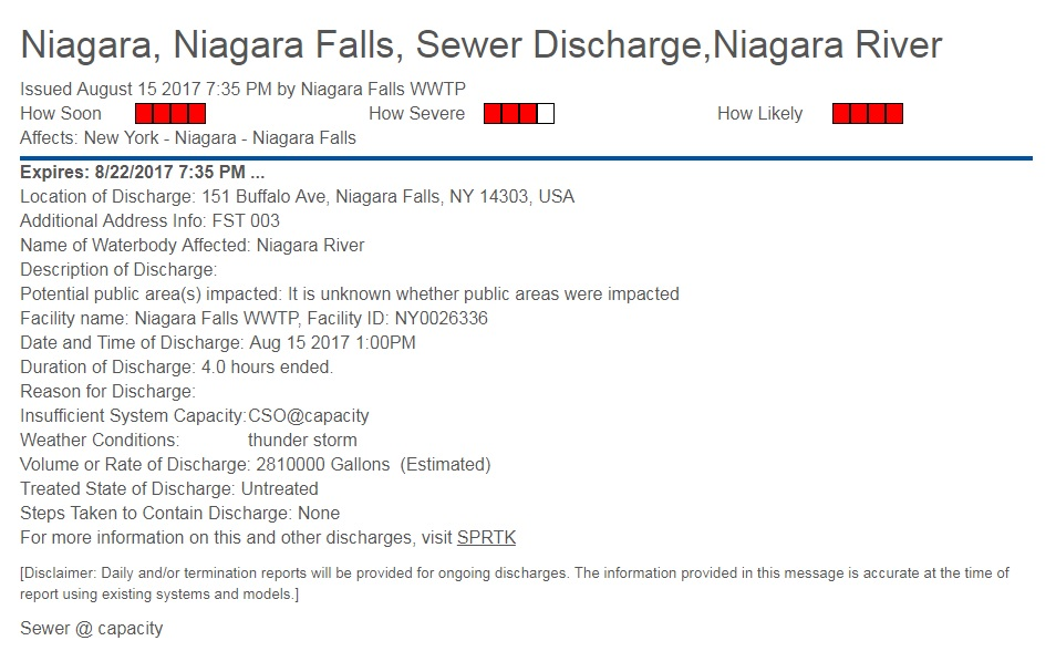 DEC investigating another potential discharge into Niagara River