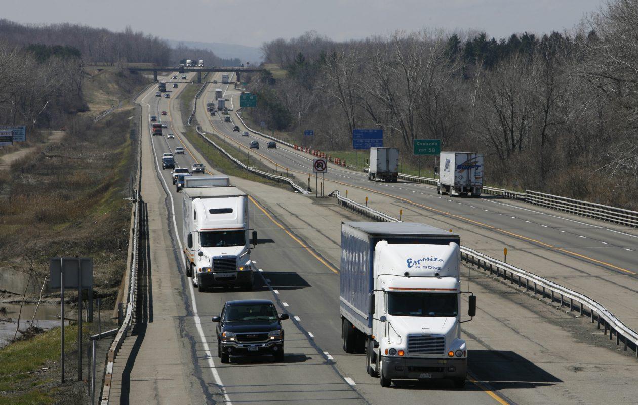 Traffic on the New York State Thruway near Buffalo. (News file photo)