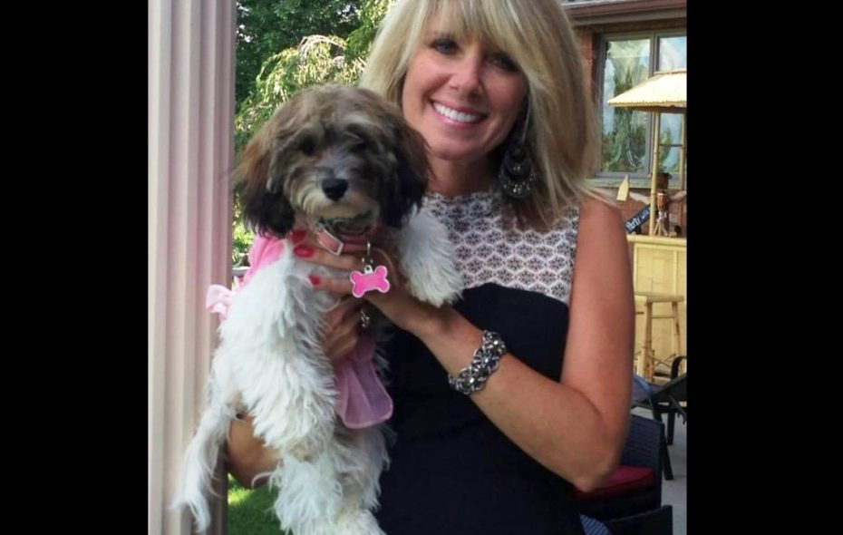 Dana Papaj and her dog. Papaj was seriously injured in a hit-and-run accident June 13, 2017 on Grand Island. She was walking her dog when she was struck by a vehicle.