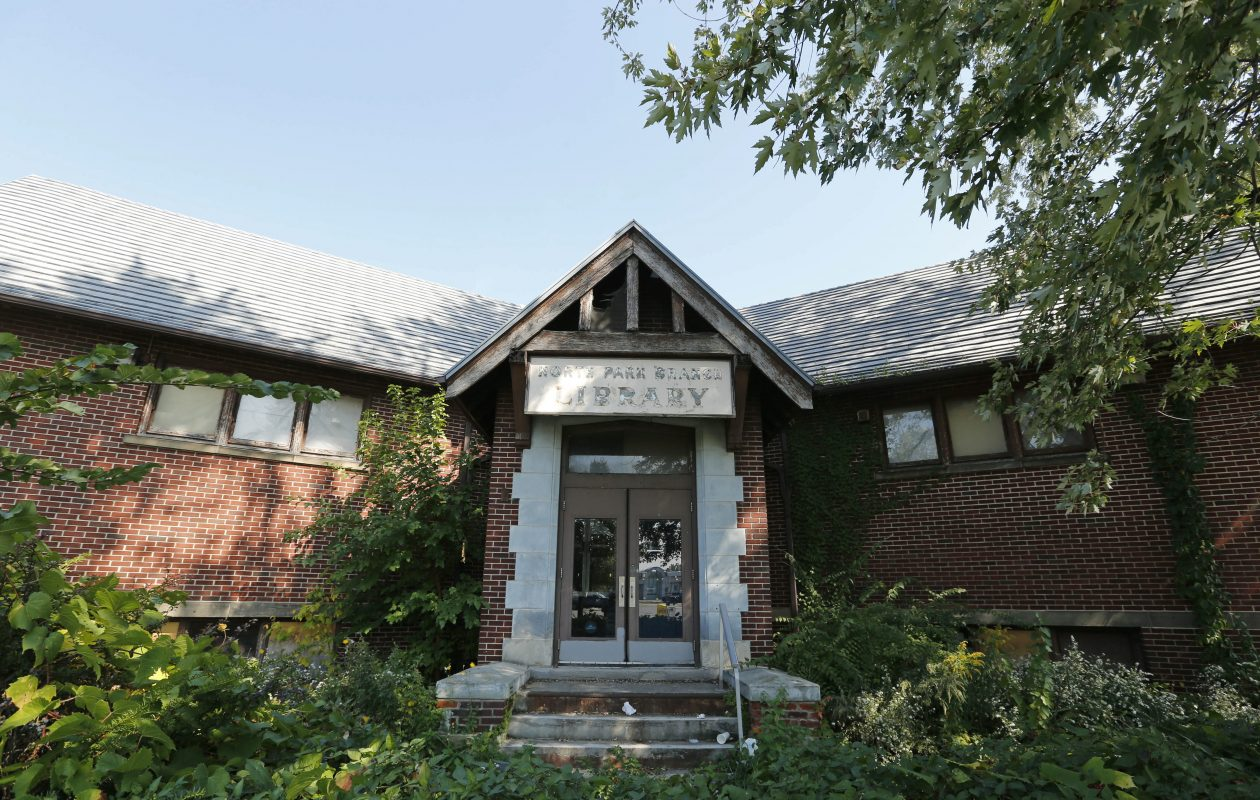 The former North Park  Branch Library is now a city landmark that will be redeveloped into an Italian American Cultural Center. (News file photo)