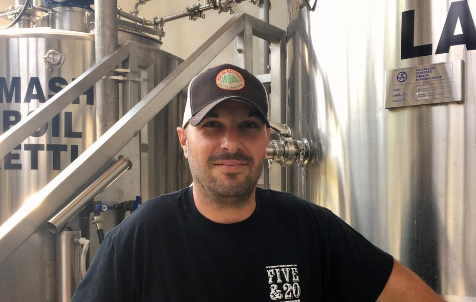 Paul Alessi is the new head brewer at Five & 20 Spirits and Brewing. (via Five & 20)
