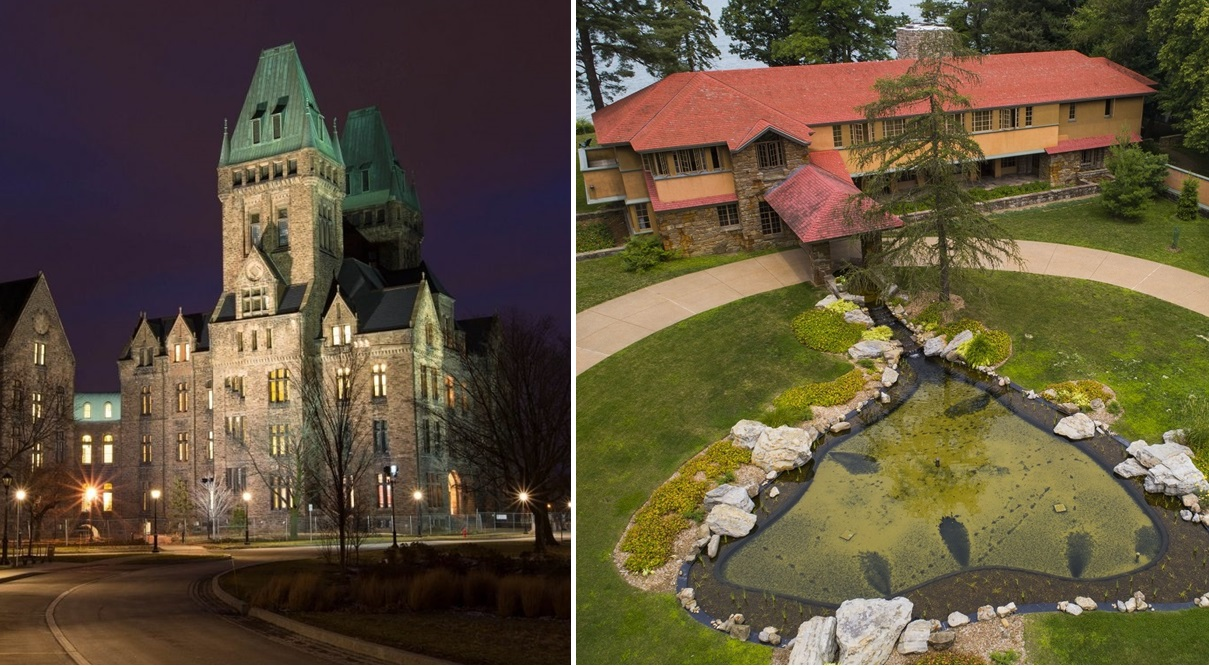 Toronto Star chimed in on the Richardson Complex, left, while the Boston Globe heralded Frank Lloyd Wright's work, which includes the Graycliff Estate. (Derek Gee/Buffalo News file photos)