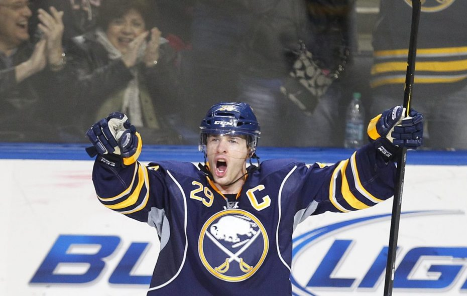 Jason Pominville and (Mark Mulville/Buffalo News)