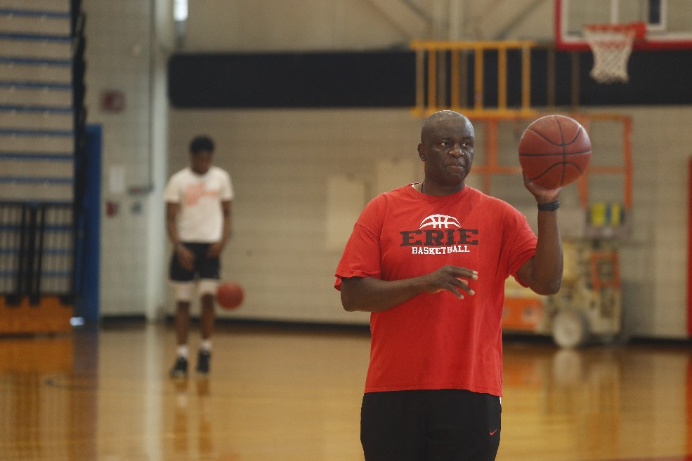 Alex Nwora, head coach for ECC, will coach the Nigerian national team at AfroBasket 2017 (John Hickey/Buffalo News)