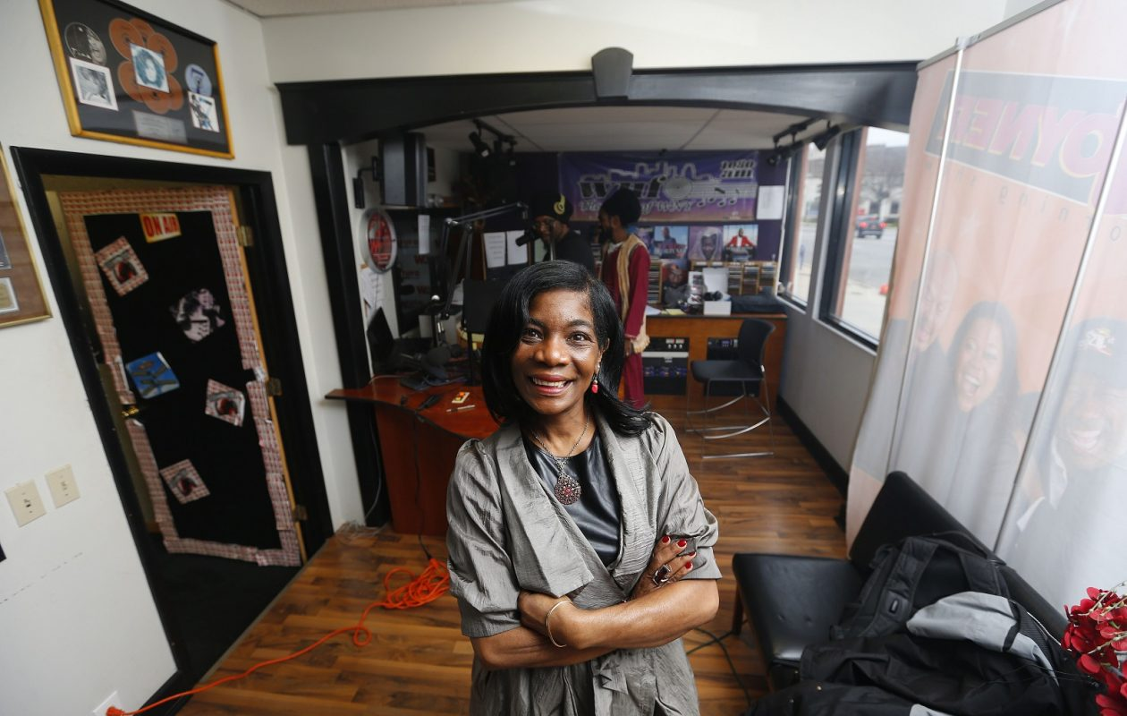 WUFO owner Shelia Brown at the station in Buffalo in 2016. (Mark Mulville/The Buffalo News)