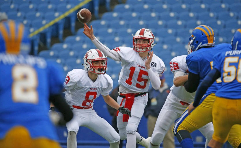 Southwestern quarterback Cole Snyder is on the radar of Division I coaches after a strong sophomore season.  (Harry Scull Jr./Buffalo News)