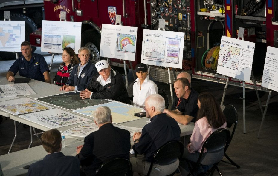 Trump, in Texas, praises storm recovery efforts