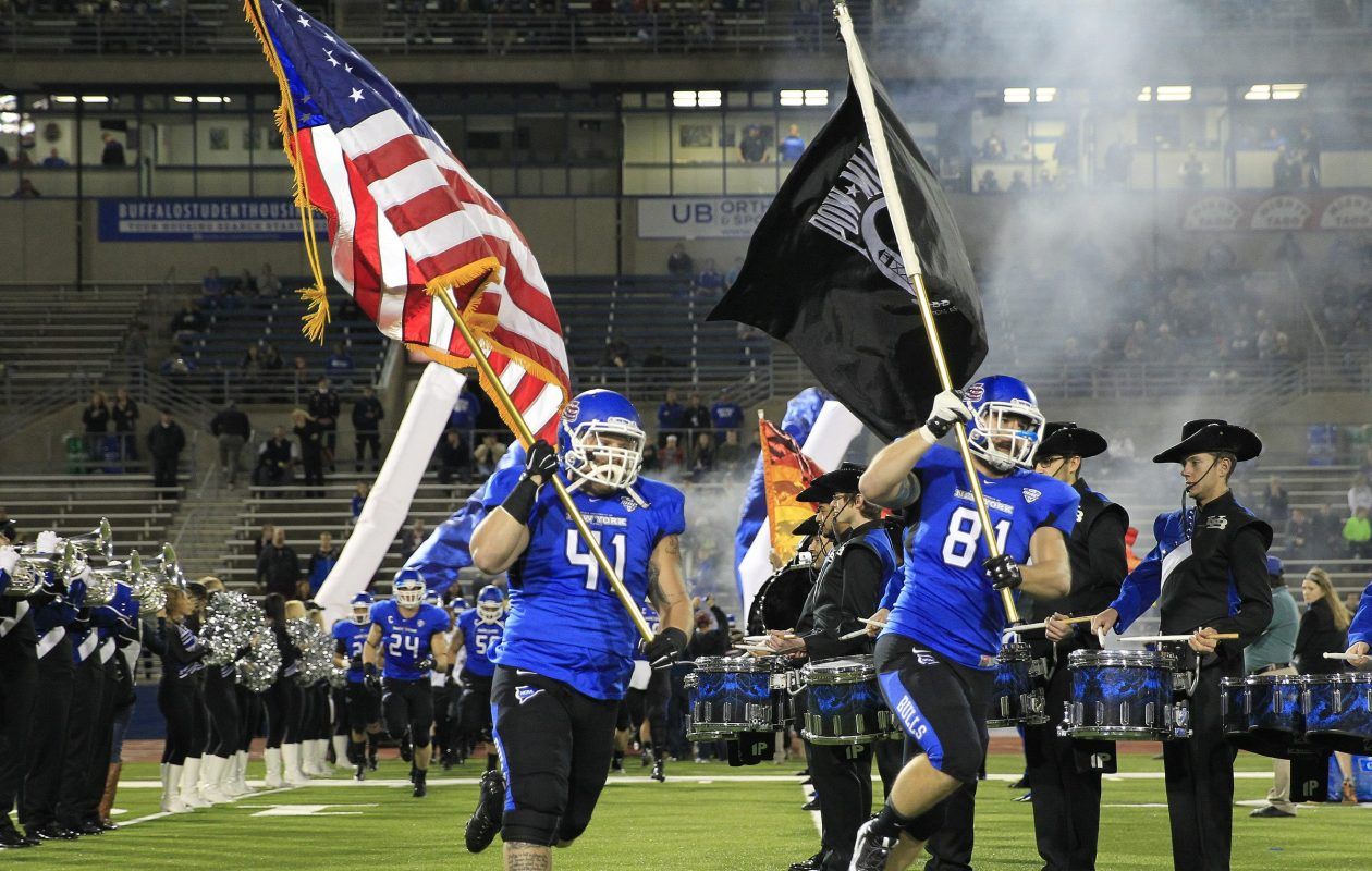 The University at Buffalo will play Delaware State to open the 2018 season. (Harry Scull Jr./Buffalo News file photo)