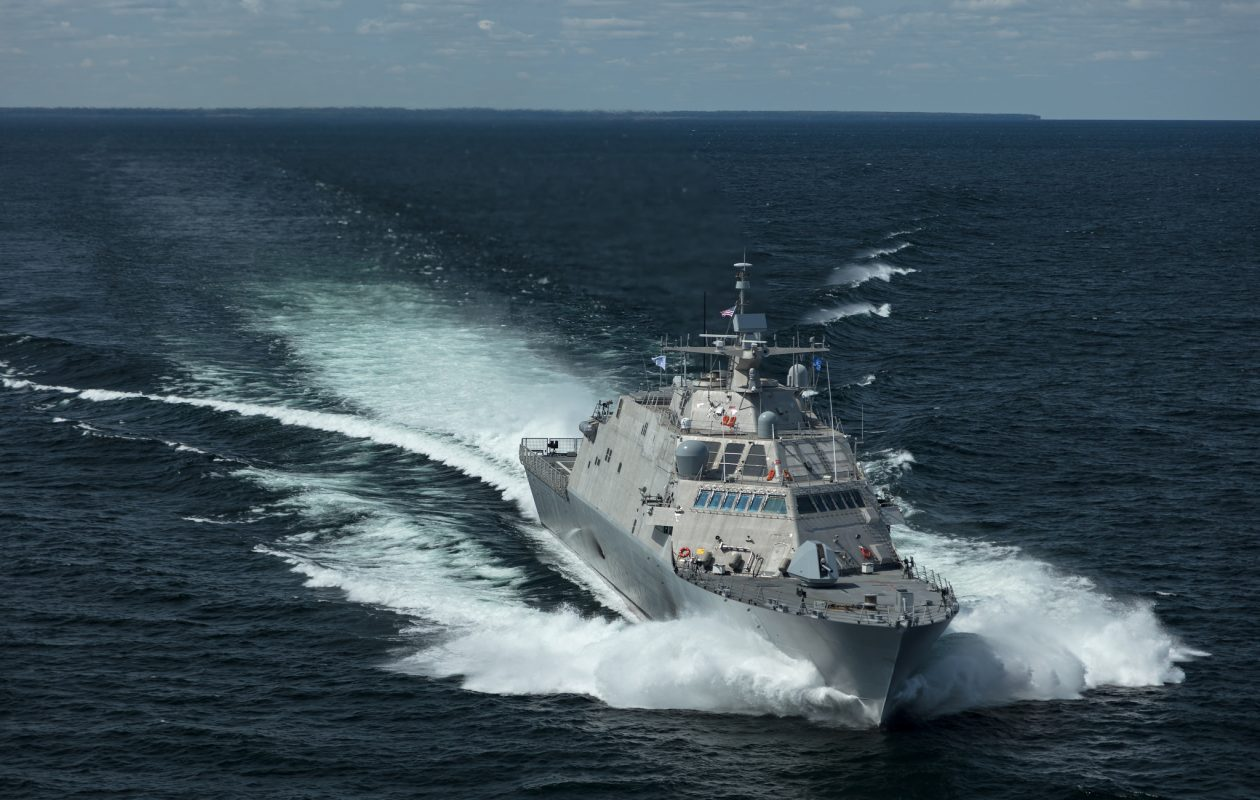 The future USS Little Rock, a littoral combat ship built for the U.S. Navy, going through seaworthy trials. (Provided photo)