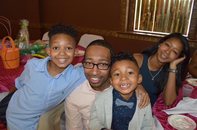 Members of the Shine family all have benefited from the Parent-Child Home Program, which must be renewed by Congress by Oct. 1 to continue. The Buffalo family includes Valentino III, Valentino Jr., Jackson and Tasia Shine. (Photo courtesy of Valentino Shine Jr.)