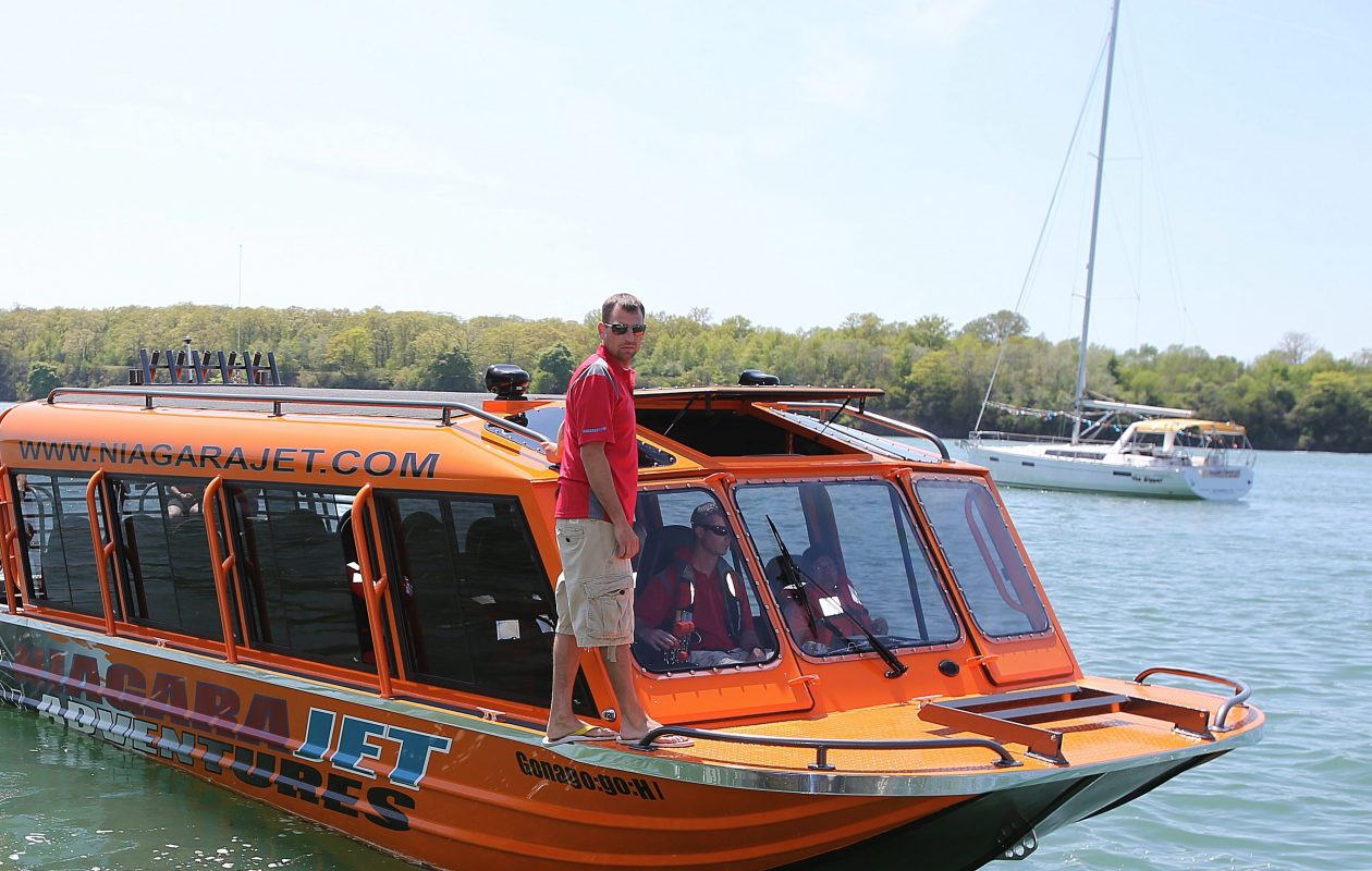 Christopher Bohnenkamp is seen aboard a Niagara Jet Adventures boat in May 2014. (Buffalo News file photo)