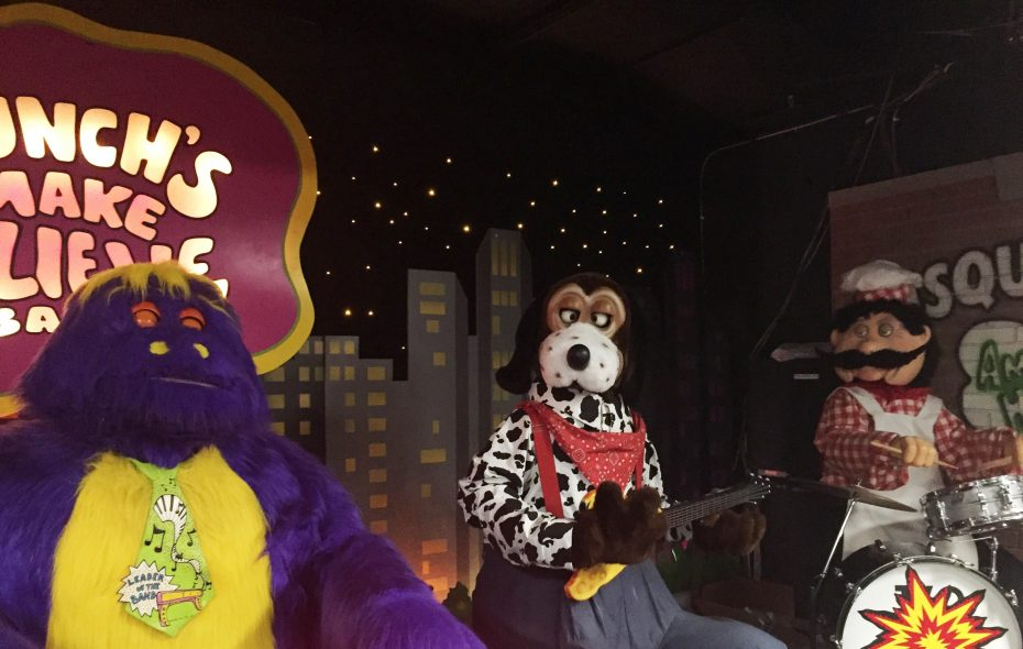 Chuck E. Cheese's animatronic band known as Munch's Make Believe Band. From left, Mr. Munch, Jasper T. Jowls and Pasqually. (Photo courtesy CEC Entertainment)