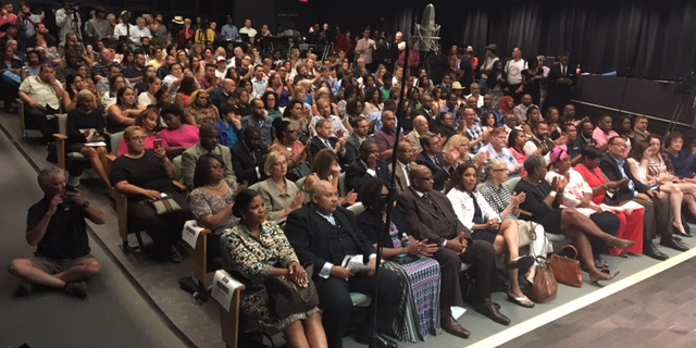 It was a jam-packed audience at Thursday's mayoral debate at Burchfield Peney Art Center.