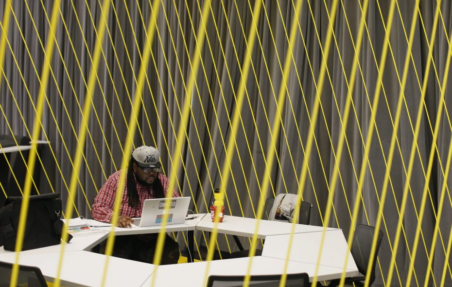 The Buffalo Niagara Medical Campus will host Topcoder later this year in its dig co-working space at the Innovation Center, shown here in 2014. (Derek Gee/Buffalo News file photo)