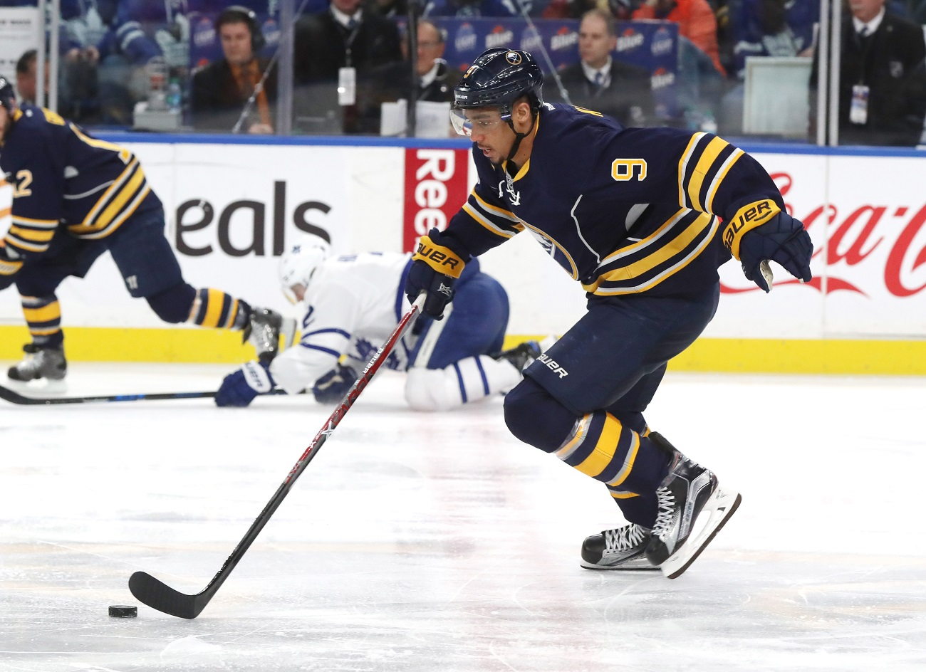 Ryan O'Reilly (90), Rasmus Ristolainen (55) and Jason Pominville are among the 12 players signed past this season. (Getty Images)
