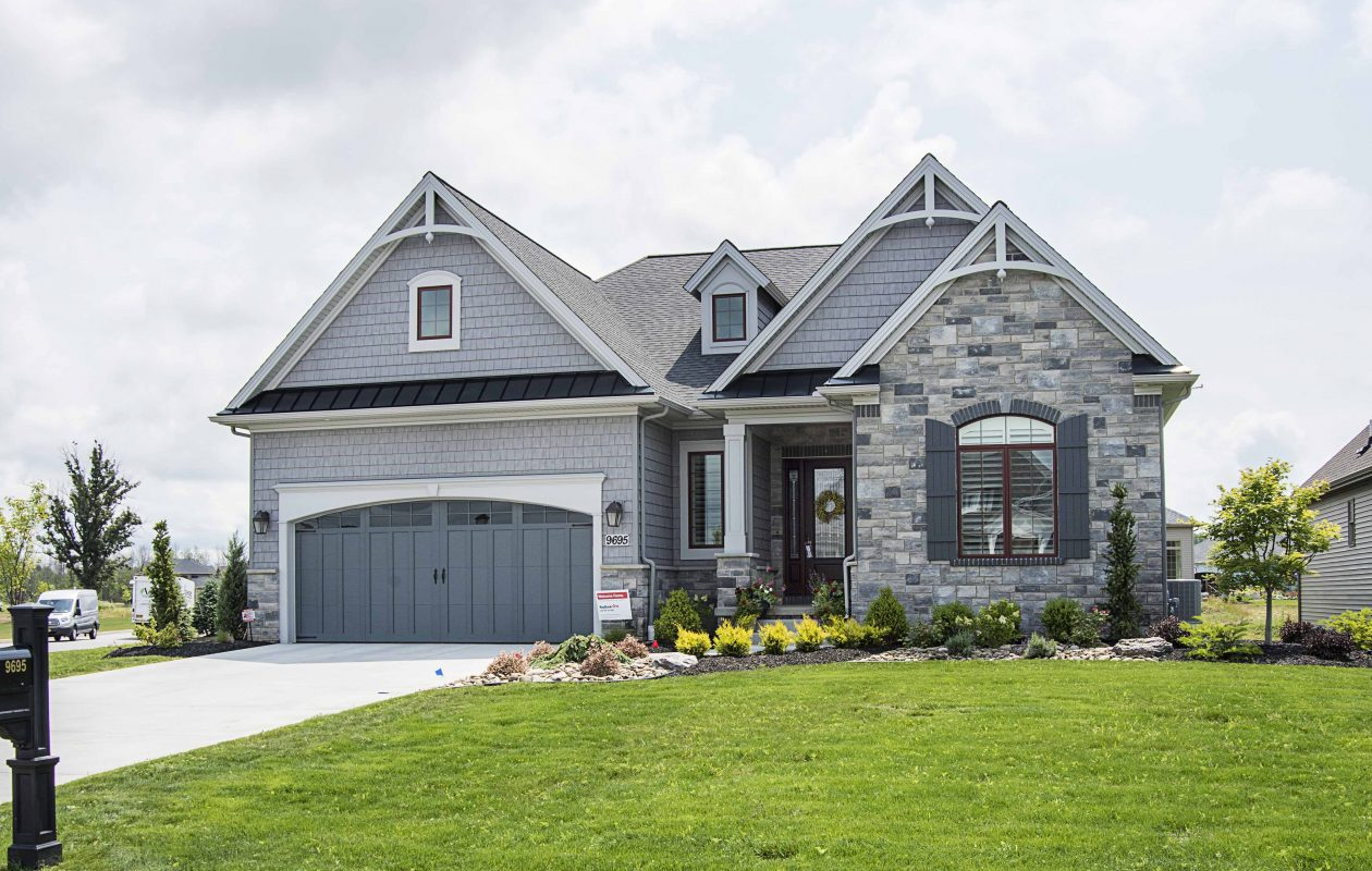 Tesmer Builders craftsmanship is on display on this home's exterior details.