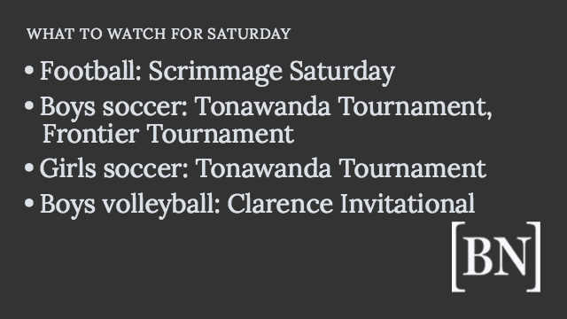 Homeroom Announcements: Saturday's big games & more