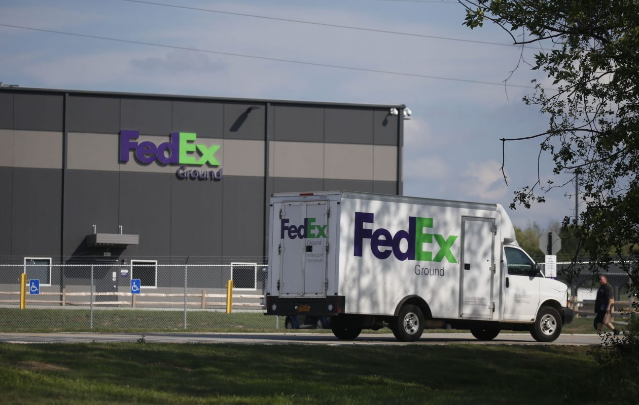The access road in front of the FedEx distribution facility in Hamburg is named for former IDA Executive Director Michael Bartlett.  (Robert Kirkham/News file photo)