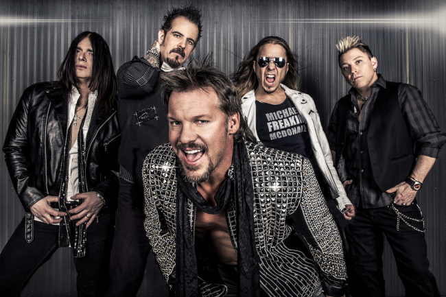 WWE superstar Chris Jericho brings his band, Fozzy, to the Rapids Theatre.