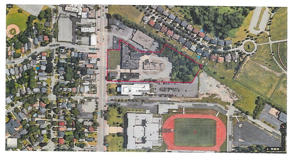 A Utah developer is planning to convert an industrial property on Main Street across from Hertel Avenue, shown in this document submitted to the Buffalo Planning Board, into an apartment complex for graduate students.