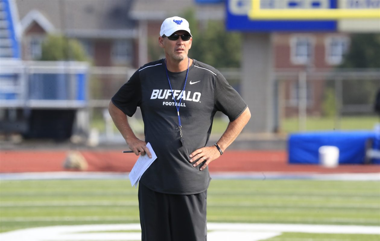 Lance Leipold and UB visit Minnesota on Thursday to kick off the 2017 season. (Harry Scull Jr./The Buffalo News)