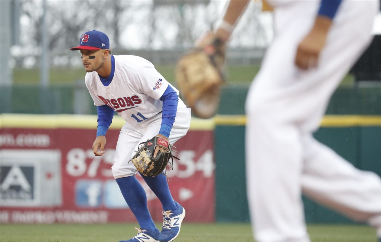 Christian Lopes hit a go-ahead, three-run homer in the ninth to give the Bisons a comeback win. (Harry Scull Jr./The Buffalo News)