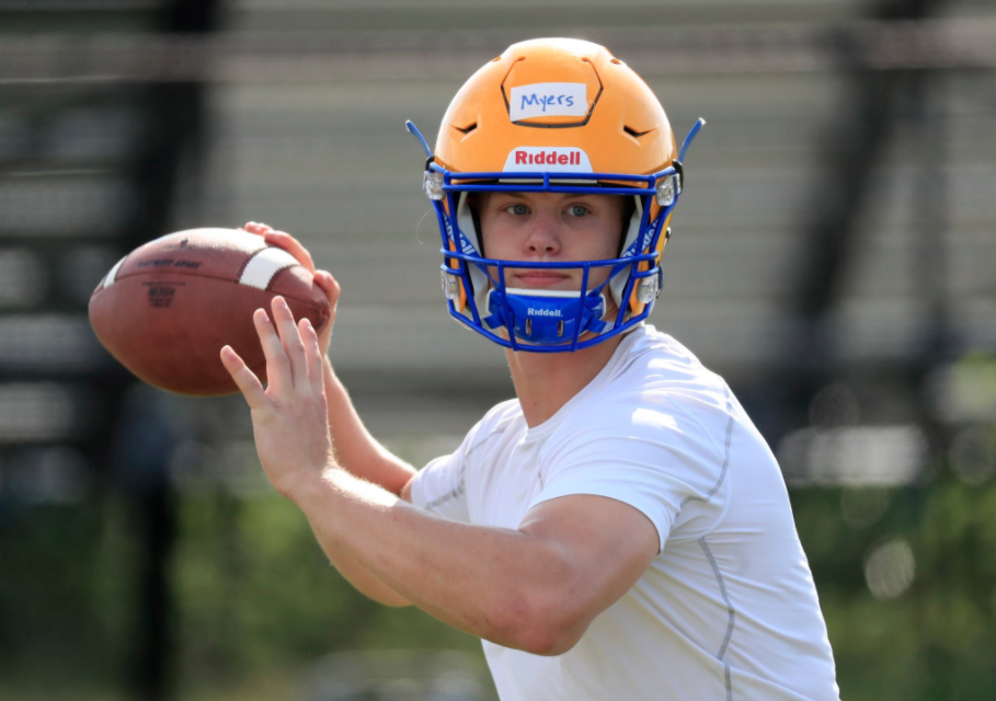 Matt Myers during his first practice back at West Seneca West. (Harry Scull Jr./The Buffalo News)