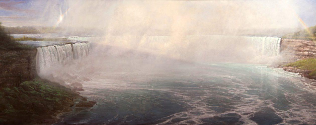 """Thomas Kegler's painting """"Niagara, Psalms 84:11"""" is on view in Niagara University's Castellani Art Museum."""
