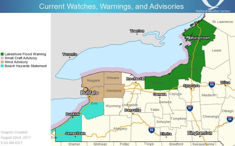 Tornado Watch Issued; Severe Thunderstorms Threaten Northeast and Ohio Valley Tuesday