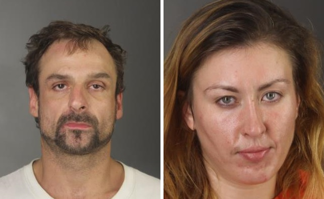 Michael Penvose, 37, of Gowanda,and Laura Park, 29, of Angola, were arrested following a police pursuit Wednesday morning. (Erie County Sheriff's Office)