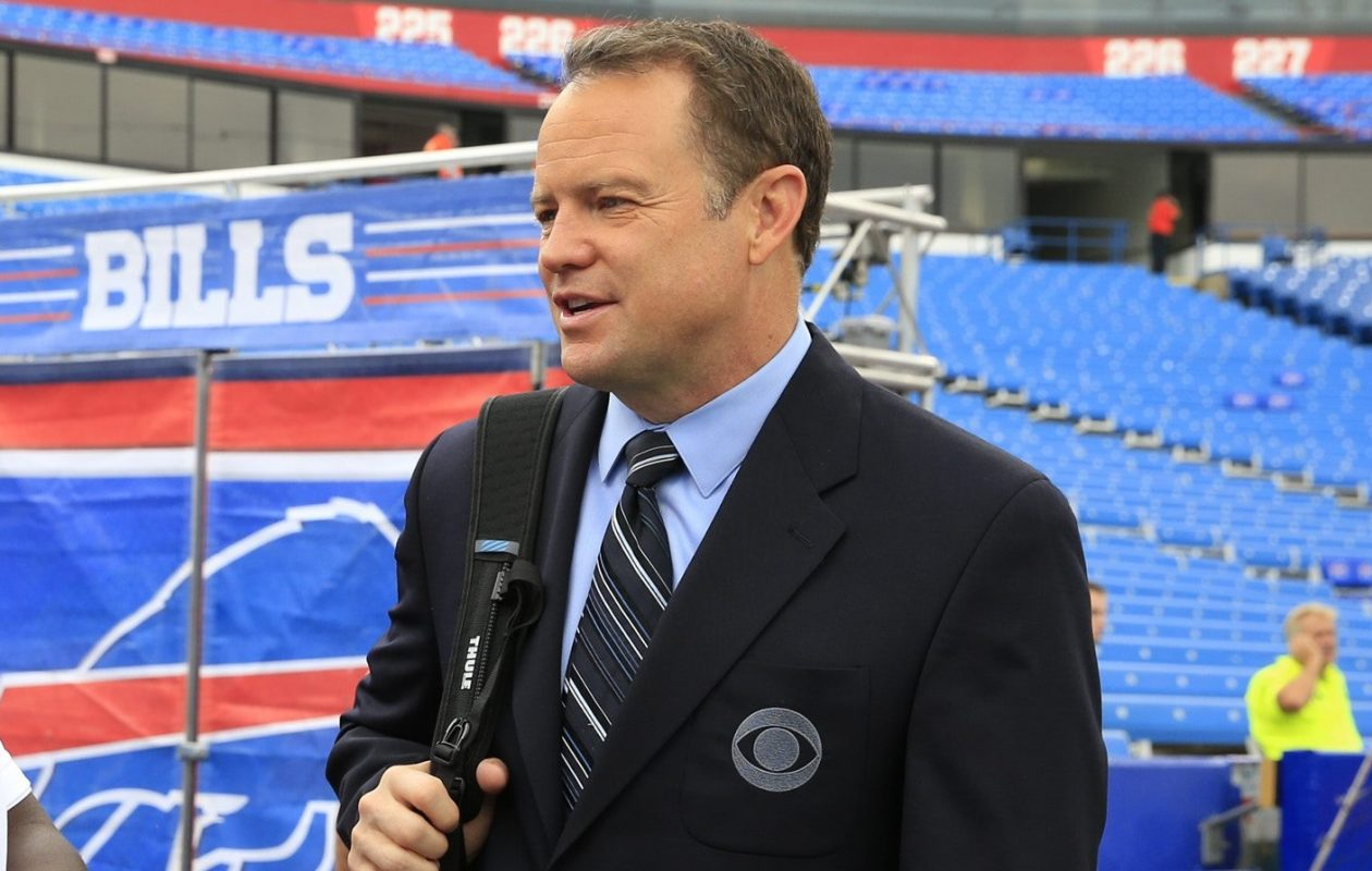 Former Bills special teams great Steve Tasker is a CBS analyst and sideline  reporter. ( dbb4dfbcb