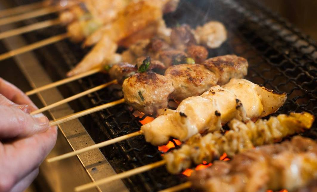 Yakitori, grilled skewers, will be one of the specialties at Sato Brewpub. (Sato Brewpub)