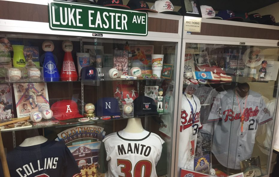 Displays like the 30th anniversary tribute in Coca-Cola Field's Hall of Fame Room could be part of the Buffalo Experience (Mike Harrington/Buffalo News).