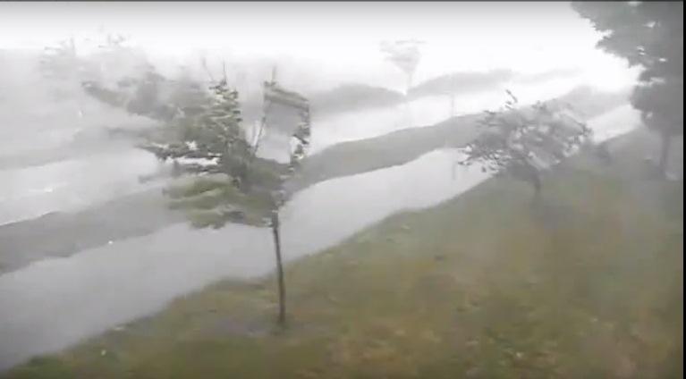 A still from City of Buffalo surveillance camera video of Friday's storm.