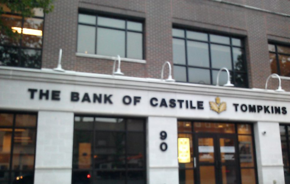 Tompkins Bank of Castile's headquarters in Batavia. (Matt Glynn/Buffalo News)