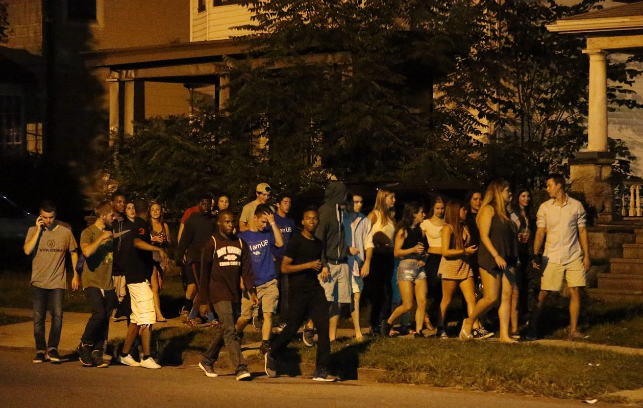 Packs of students roaming University Heights looking for parties have made life miserable for residents.(Sharon Cantillon/Buffalo News file photo)