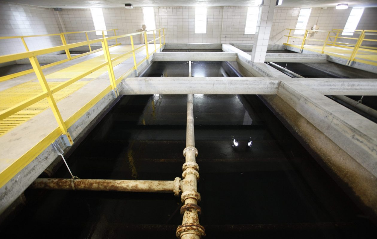 One of the filter units in the filter gallery at the Sturgeon Point  Treatment plant, where a water main break is being repaired. (News file photo)