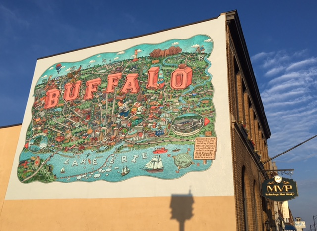 'Buffalo' is the second public art mural to go up on Hertel Avenue this summer.